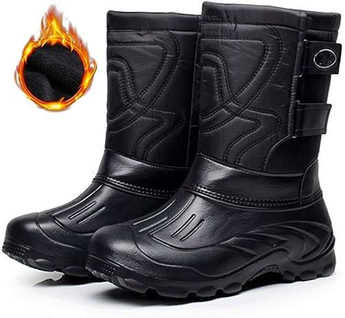 Hommes étanche Thigh Haute Noir Bottes de pluie Anti-antidérapante À Enfiler Bottes Genouillères NEUF