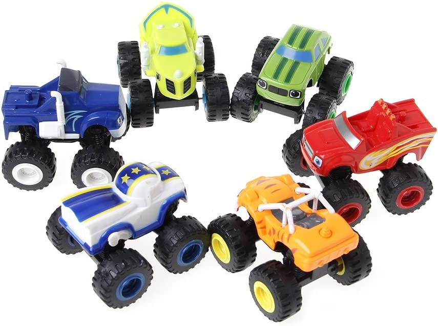 zkm 6 Pezzi Blaze Vehicles Racer Cars Camion Regali per Bambini Giocattoli Giocattoli Macchine