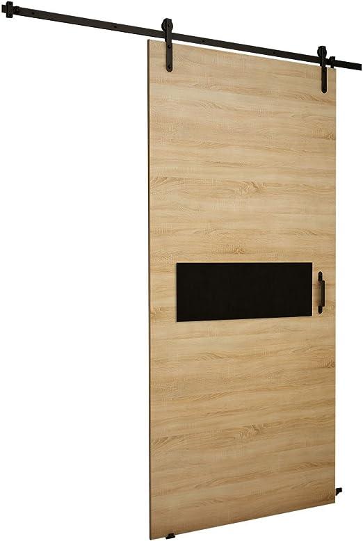 Mirjan24 Puerta Corredera Sistema Antic IV, Negro Cristal, Set Completo para Puertas correderas con guía de Suelo Distancia Guía divisores Puertas Interiores: Amazon.es: Juguetes y juegos