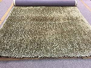 Amazon.com: Sage Green Olive Shaggy Shag Area Rug 5x7 High