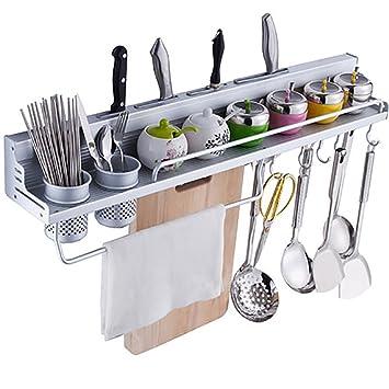 Estante para utensilios, CONMING Estante para estanterías de cocina Estante para aluminio Utensilios de cocina Soporte ...