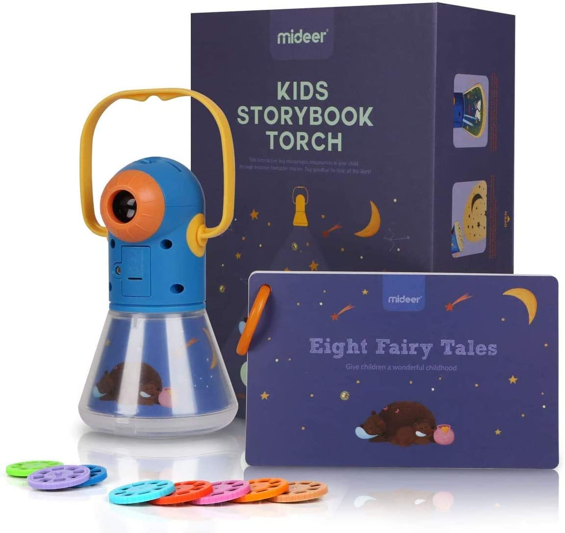 MiDeer Kids Story Book Torch Sleep Fairy Tale Projector Educational Toy Gifts