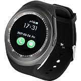Y1 Smartwatch écran tactile support Micro carte SIM avec Bluetooth 3.0 Camera moniteur de sommeil extérieur