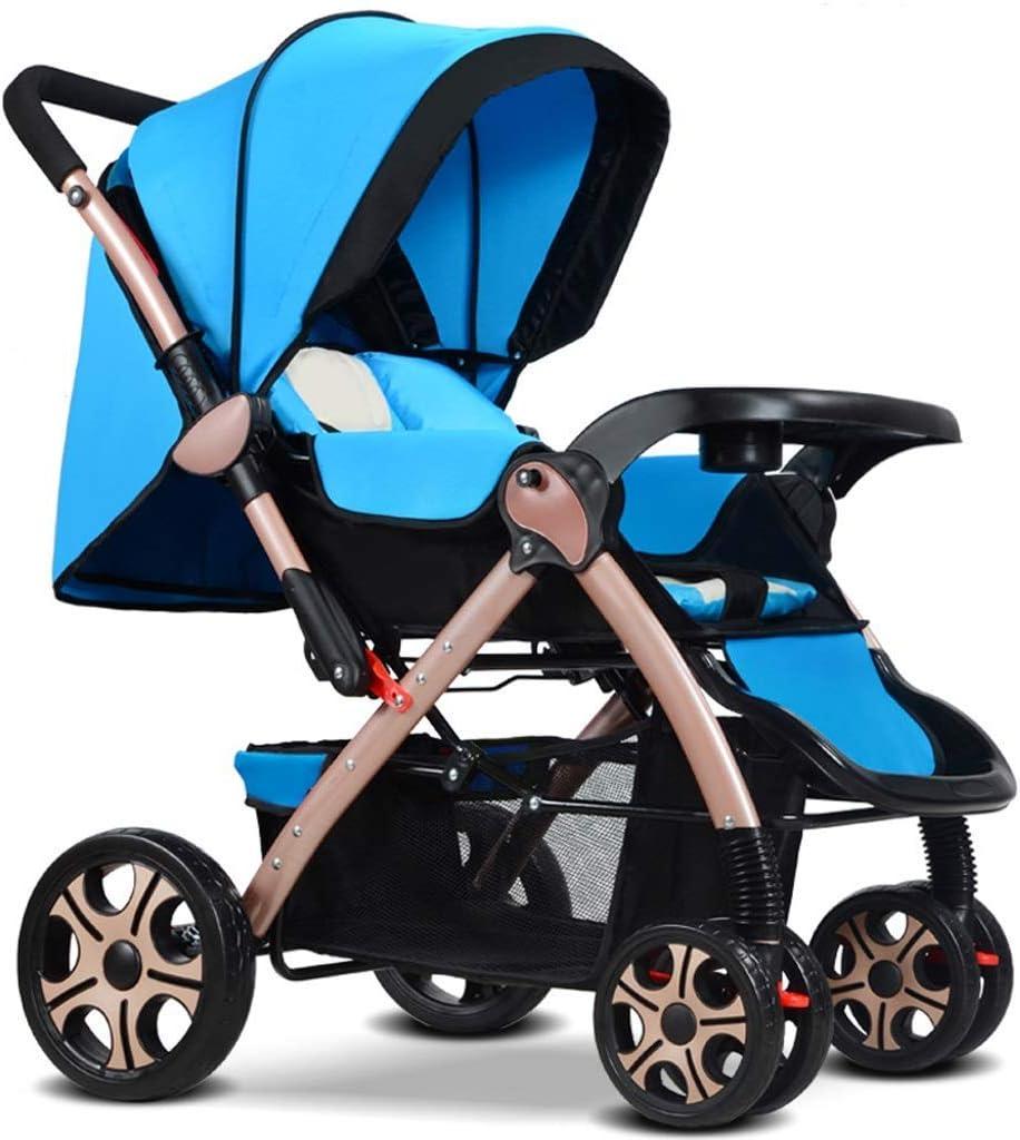 WJY Carrito, Comedor Coche Carrito médico Comedor Cochecito de bebé Bidireccional Se puede sentar Reclinable Ultraligero Portátil Plegable Niño de 0-3 años Sombrilla de cuatro ruedas Sistema de viaje