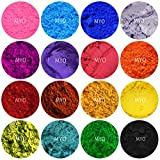 Bath Bomb Powder Colors 10 Piece Assorted Sampler Mineral Matte Oxide & Shimmer Mica Powder DIY For Soap Making, Cosmetic, Candle Making, Nail Art, Resin Jewelry, Acrylic and other Craft Projects. (3) Gram Jars Set A