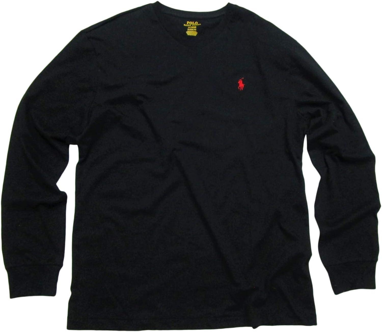 Polo Ralph Lauren Mens V-Neck Long Sleeve T-Shirt Classic Fit