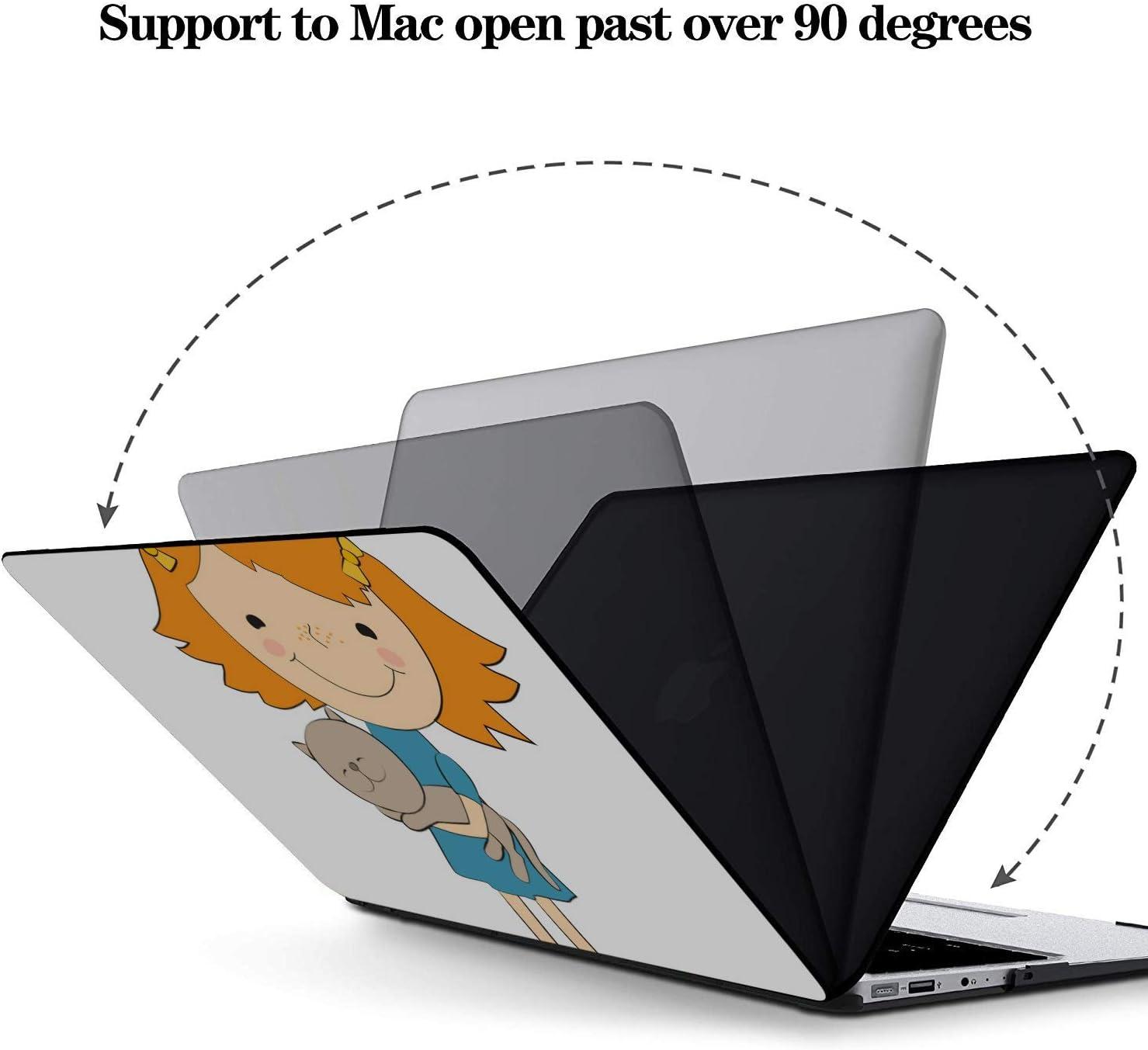 MacBook Pro Laptop Case Cartoon Little Girls Pretty Fashion Plastic Hard Shell Compatible Mac Air 11 Pro 13 15 13 MacBook Case Protection for MacBook 2016-2019 Version