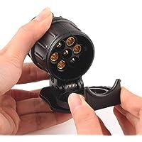 Wayne Davieshg Car Trailer Truck 13 Pin to 7 Pin Plug Adapter Converter Tow Bar Socket Black