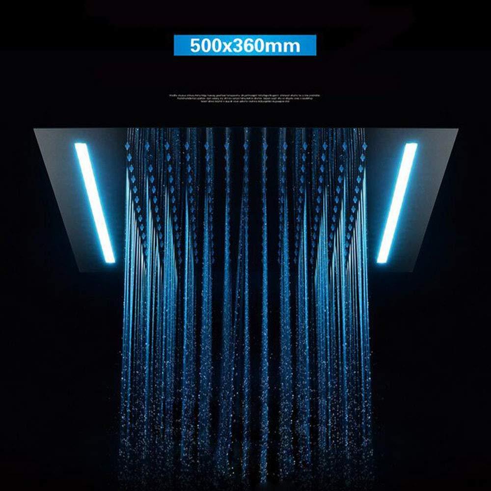 内蔵シャワーヘッド500×360cm - 単一機能LED隠し大型トップスプレー64色温度を交換することができます B07QGVT9B1
