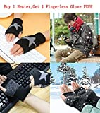 Portable Space Heater Madoats Personal Electric Heaters Small Desktop Ceramic Heater with Thermostat,Tilt OFF Protection,Over-Heat Protection (include one Fingerless Glove)