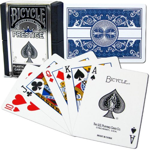 Bicycle Prestige Plastic Playing Cards (Blue) (Prestige Bicycle Cards)