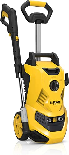 POWER Pressure Washer LTW-2700 PSI 1.80 GPM Electric – Super Compact – Portable – Soap Dispenser Built In – Ultra Low Sound Power Efficient – Yellow