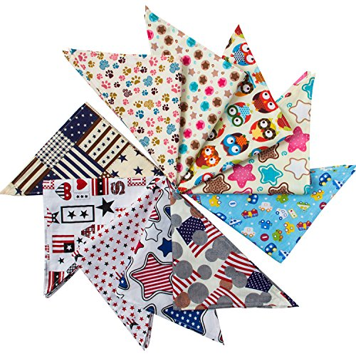 MEWTOGO Dog Triangle Bandana Puppy Bib Pack of 10
