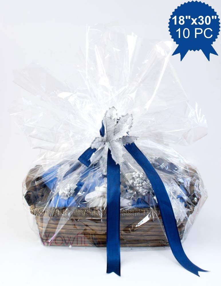 Hampers Present Cellophane for Gift Wrapping CLEAR WITH DESIGN OF YOUR CHOICE