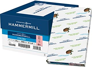 product image for Hammermill Colored Paper, 20 lb Pink Printer Paper, 8.5 x 14-1 Ream (500 Sheets) - Made in the USA, Pastel Paper