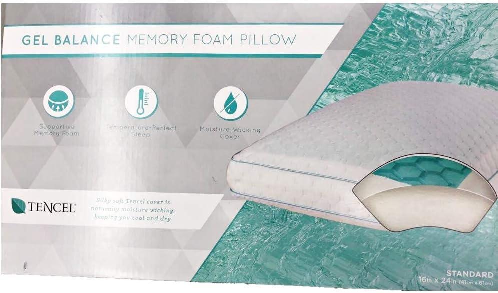 Gel Standard Memory Foam Pillow (Green