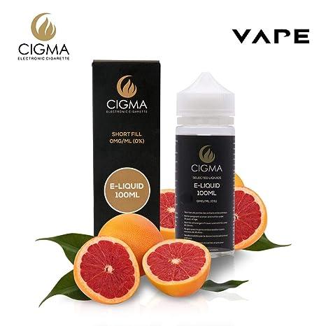 CIGMA Limon Rosado 100ml E Liquido 0mg | Nuevas botellas de llenado leve| Fórmula de