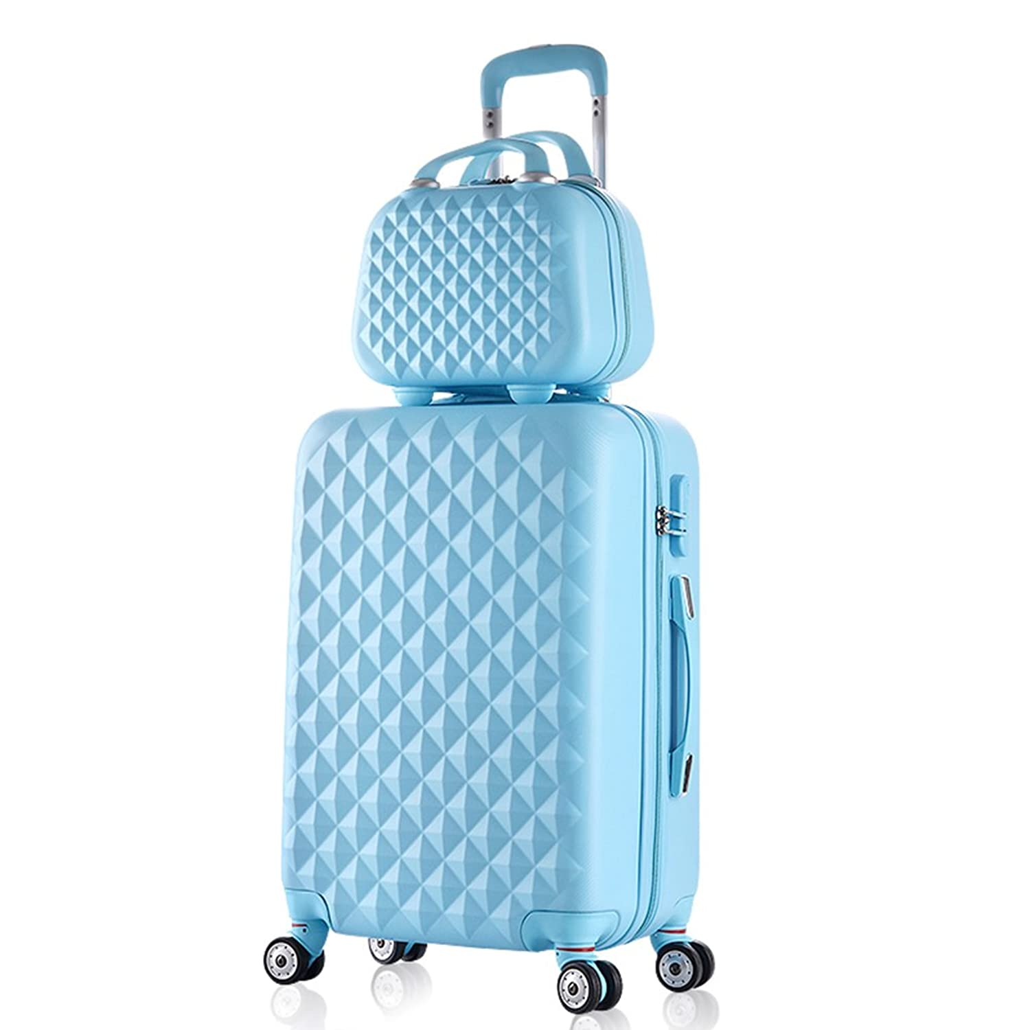 2 Piece Luggage Set Spinner Trolley Suitcase Hard Shell Carry On Bag