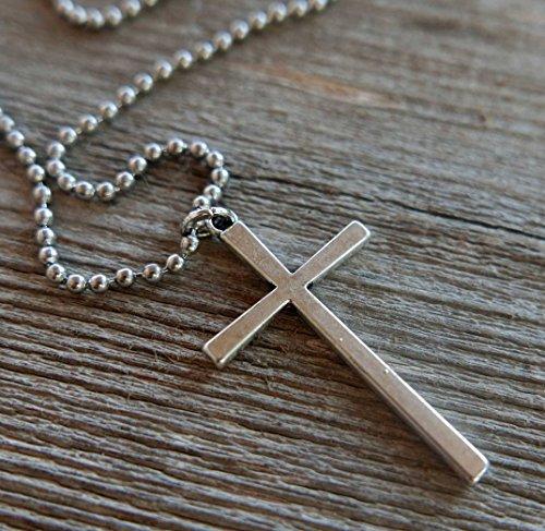 Men's Necklace - Men's Cross Necklace - Men's Stainless Steel Necklace - Men's Jewelry - Chritian Jewelry - Religious Necklace - Necklaces For Men - Jewelry For Men