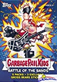 #3: 2017 Topps Garbage Pail Kids Series 2 Battle of the Bands EXCLUSIVE Factory Sealed Value Box with Special GROSS BEAR BONUS STICKERS! Look for Autograph, Sketch Cards & Printing Plates! WOWZZER!