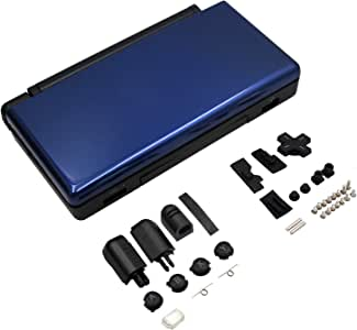 OSTENT Full Repair Parts Replacement Housing Shell Case Kit Compatible for Nintendo DS Lite NDSL Color Blue and Black