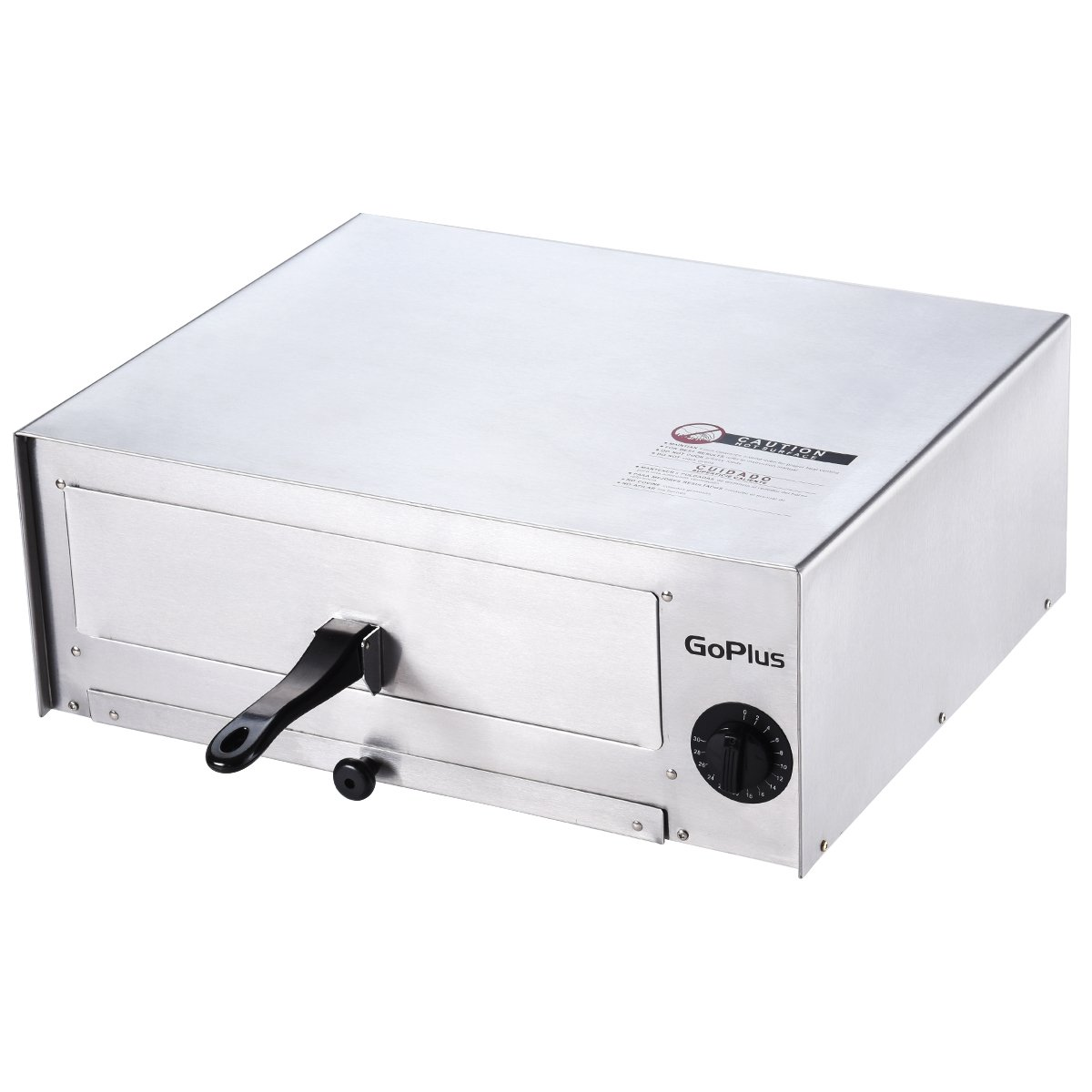 Goplus Pizza Oven, Stainless Steel Pizza Maker Machine, Pizza Baker W/Snack Pan, Snack Maker, Counter Top, for Commercial and Home by Goplus (Image #7)