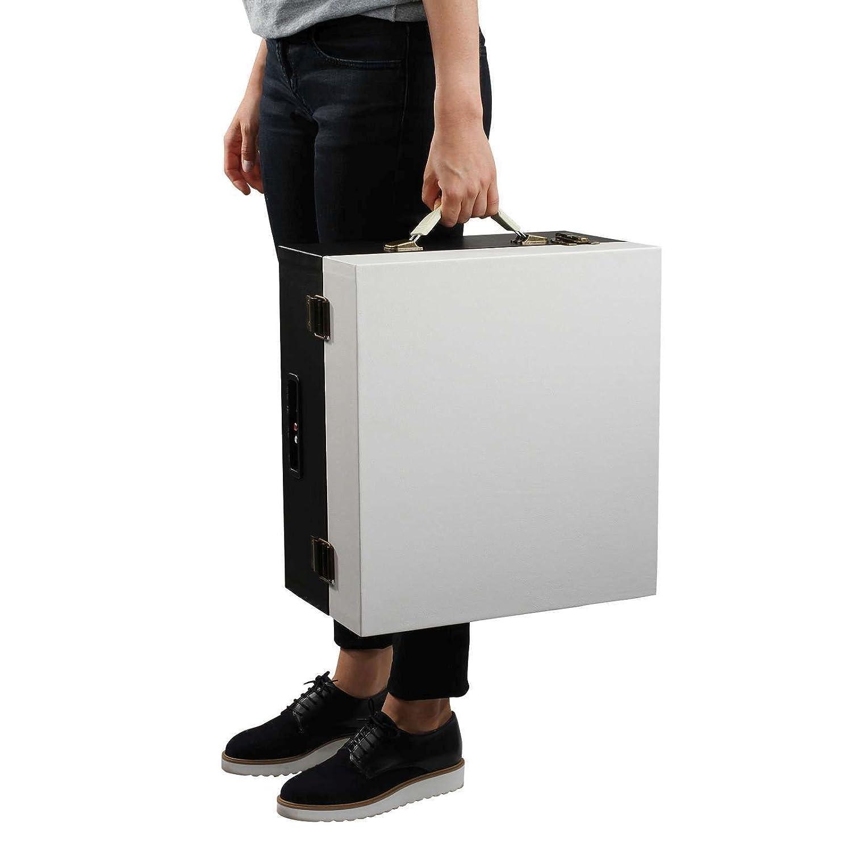 Tocadiscos con Bluetooth. Altavoz retro tocadiscos maletín patas ...