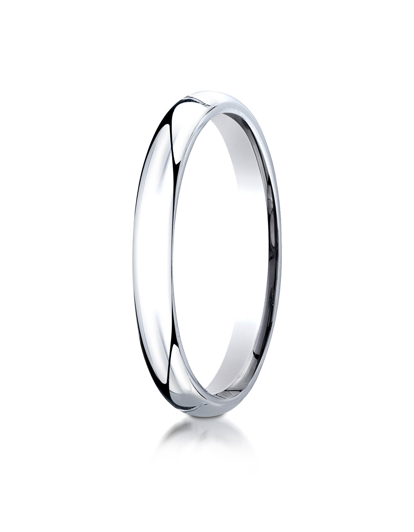 Mens Platinum, 3mm Slim Profile Comfort-Fit Ring (sz 13)