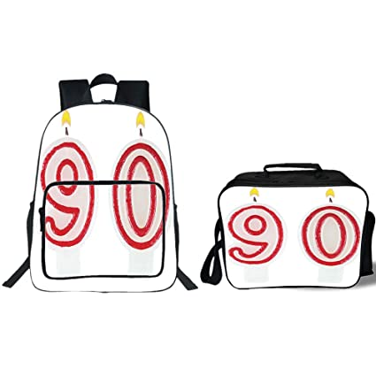 19quot School Backpack Lunch Bag Bundle90th Birthday DecorationsBurning Candles