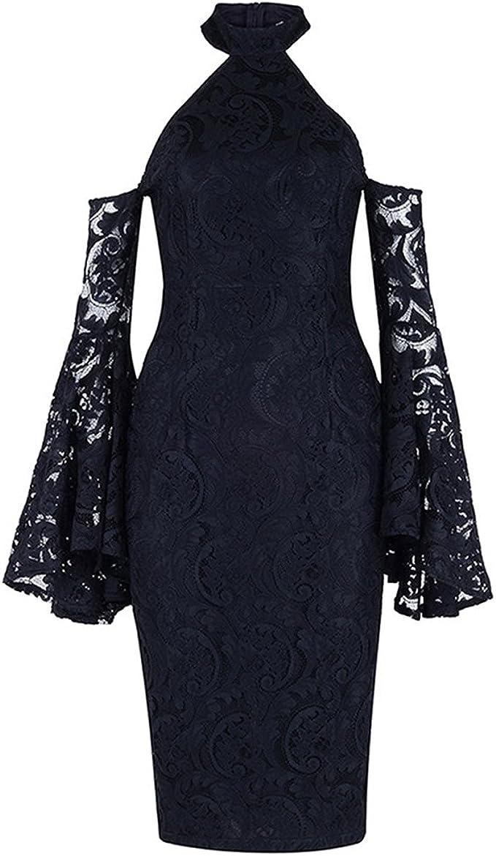 MisShow Damen Elegant Spitze Sommer Bleistiftkleid Etui Abendkleid