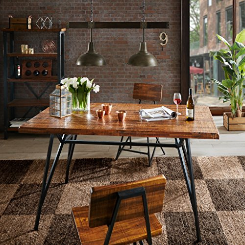 INK+IVY Trestle Dining/ Gathering Table Reclaimed Brown/ Gun Metal See below (Look Table Dining Reclaimed Wood)