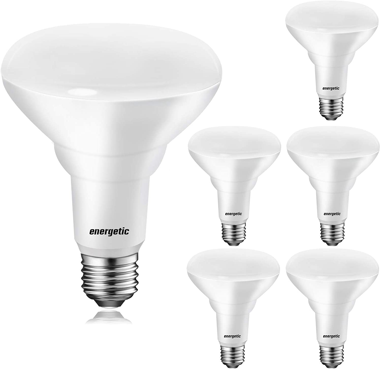 BR30 Dimmable Indoor LED Flood Light Bulb, 11W=75W, 5000K Daylight, 900LM, Ceiling Light Bulb for Cans, CRI85+, UL Listed, 6-Pack