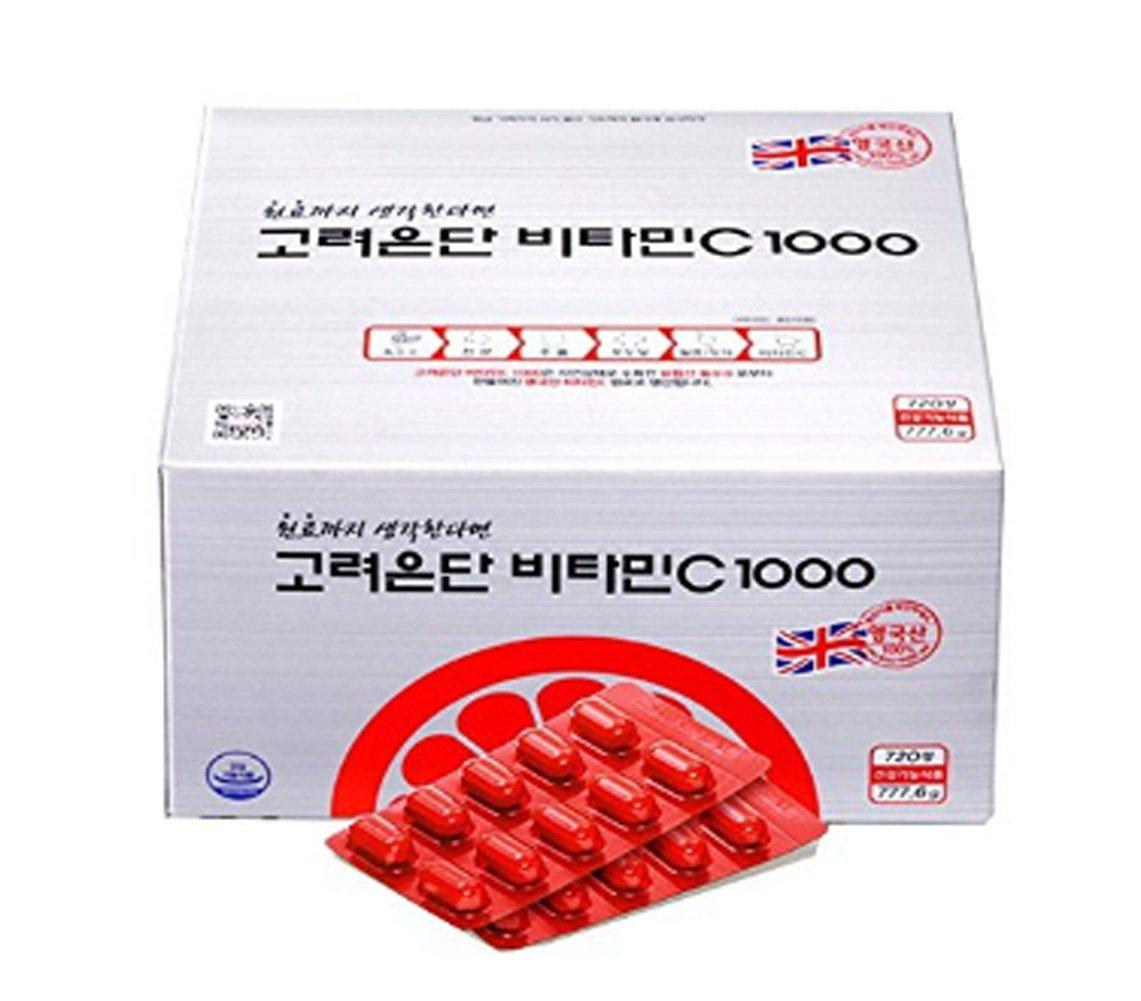 [高麗ウンダン] Koreaeundan ビタミンC 1000mg 720錠剤 24ヵ月分 健康サプリメント 海外直送品 (Vitamin C 1000mg 720 tablets Health Supplement) B07575KT1J