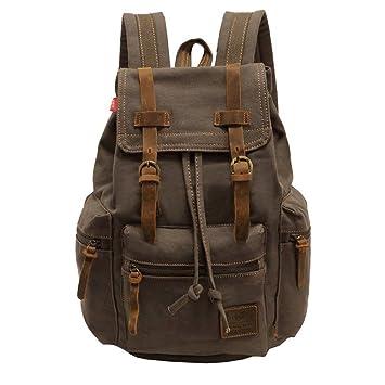 d439ce8b84639 VDSL-AUGUR REIHE Vintage Multifunktionstasche Canvas Schulrucksack Backpack