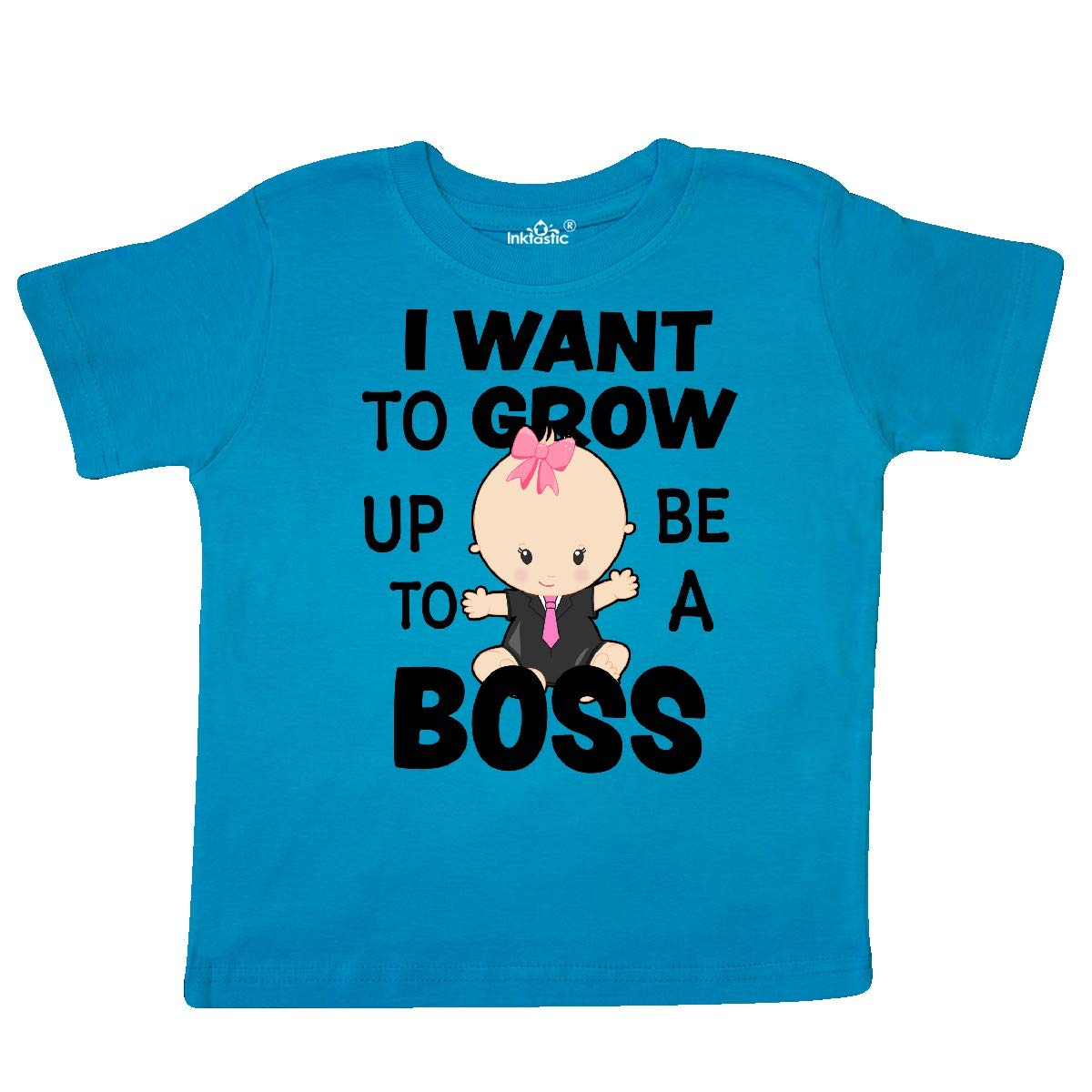 inktastic I Want to Grow Up to Be a Boss with Baby in Suit Toddler T-Shirt