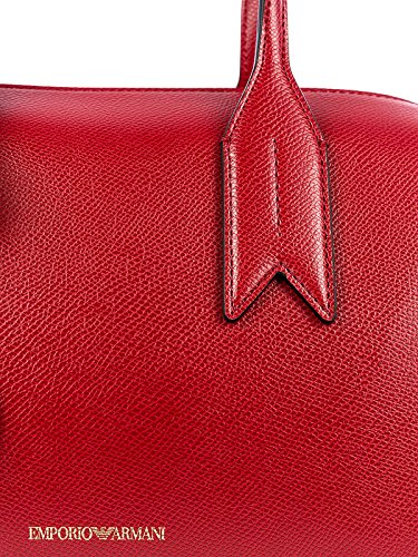 Handbag Armani Handle Twin Red Black Negro Emporio Mujer F4qzqI