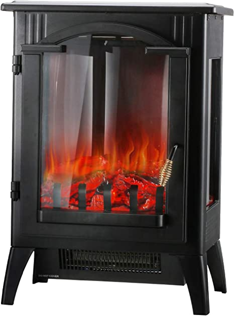 Hyd Parts Electric Fireplace Stove Indoor Electric Stove Heater Freestanding Infrared Fireplace Heater With Realistic Flame Overheating Safety System Home Kitchen