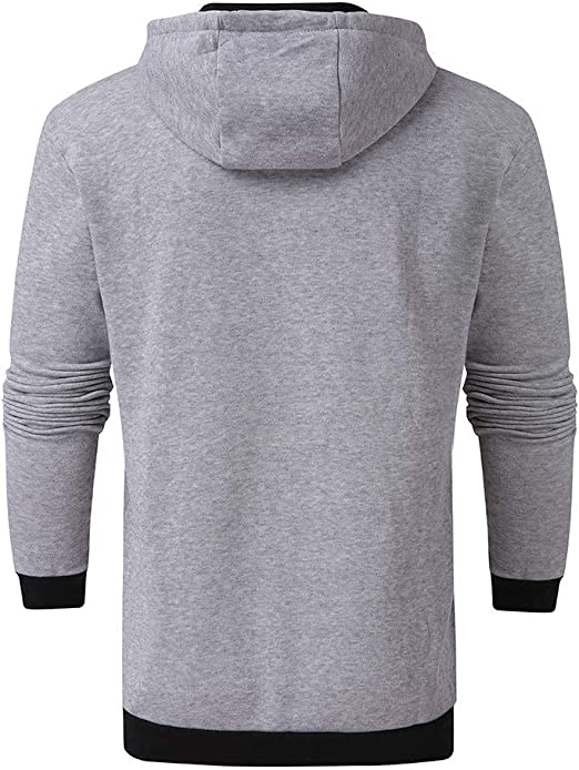 BESSKY Herren Kapuzenpullover Sweatjacke Pullover Kapuzenpulli Reißverschluss Slim Hoodies Sweatshirts Mantel Jacke Streetwear Langarm Sport Style