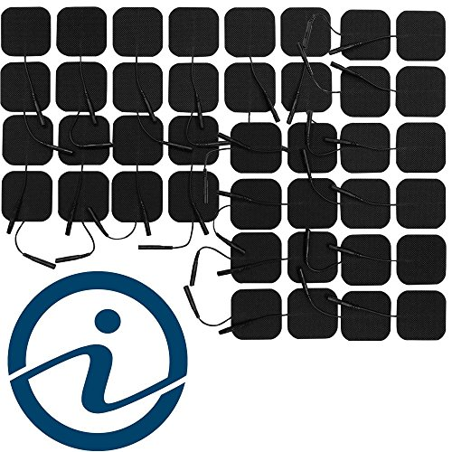 iReliev Electrode Value Pack TENS & EMS Pads (40) 2'' X 2'' Re-Usable, Premium Super Tack Gel by iReliev (Image #3)