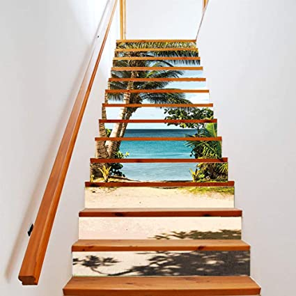 Adesivi Murali Per Scale.Homearts 13pcs Set Adesivi Murali Scale Decalcomanie