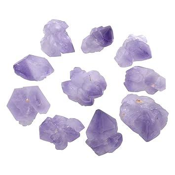 Tumbling Lapidary Cutting and Polishing /& Reiki Crystal Healing ATPUS63160 Top Plaza 0.13lb Bulk Rough Irregular Amethyst Crystal Quartz 0.6-0.98 Raw Natural Stones for Cabbing