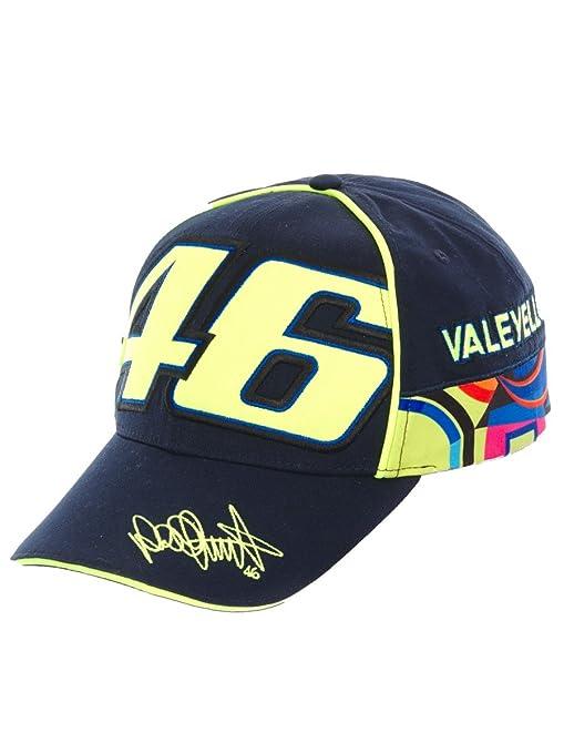 VR46 Hombre Valentino Rossi Cap Multicolor Tapa, Azul, One size ...