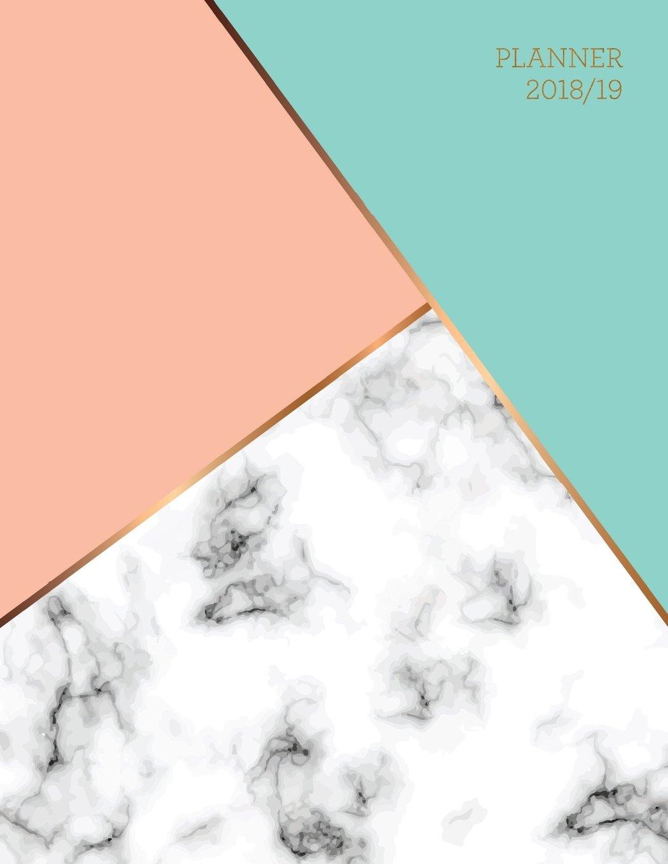 Planner 2018 2019 Marble Gold Design Jul 18 Dec 19 18 Month