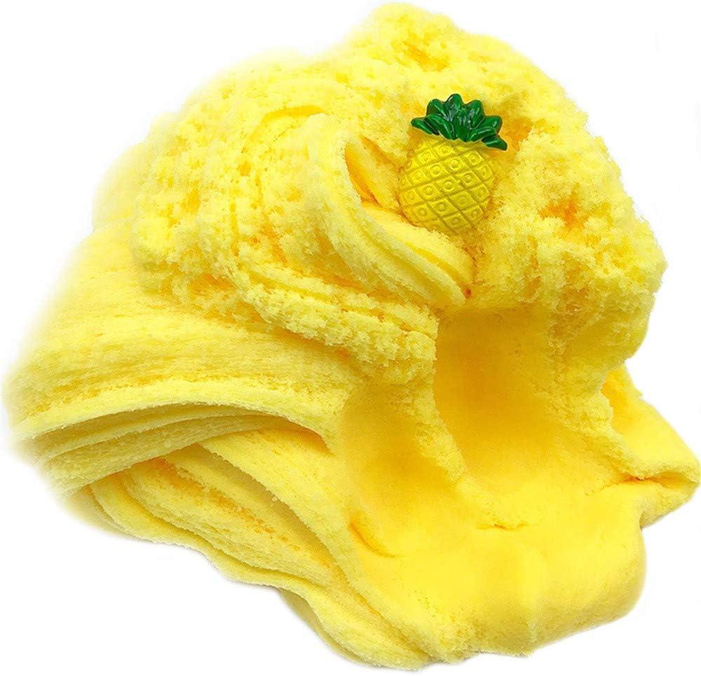 HUGE  PineappleSorbet Fluffy Textured Cloud Un//Scented Slime Adult  KidsToy Gift