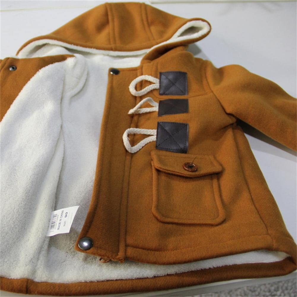 Eshoono Unisex Baby Fleece Hooded Jacket Outerwear Duffle Zipper Winter Coat