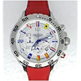 Nautica Mens A24515G NST Dive Style Chronograph Nautical Flag Watch
