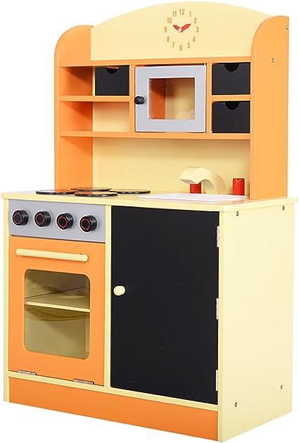 Amazon.com: Giantex Wood Kitchen Toy Kids Cooking Pretend ...