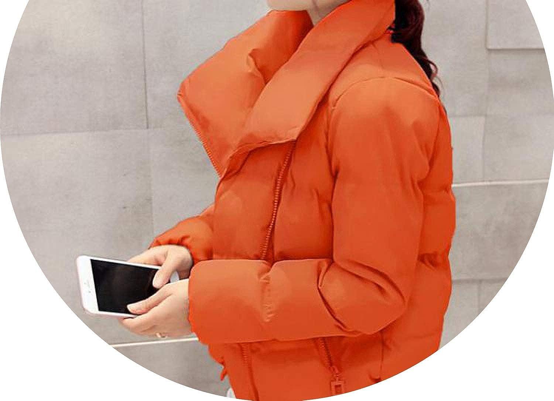 orange 100Expectations winter coat Women Down Jacket selfCultivation Irregular Light Cotton Casual Blouse top Veste Femme