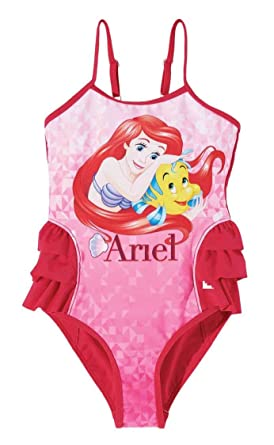 2da056932 Disney Princess Girls Swim suit - fuchsia - 6 yrs: Amazon.co.uk ...