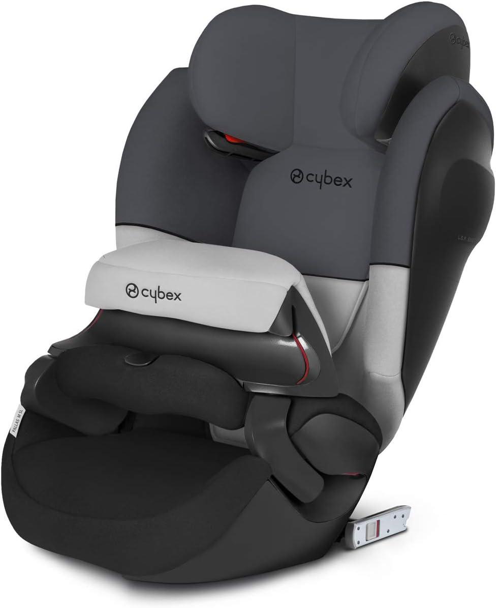 Cybex Pallas M-Fix SL - Silla de coche grupo 1/2/3, 2 en 1 para Niños, para Coches con y sin Isofix, 9-36 kg, desde los 9 meses hasta los 12 años, color Gray Rabbit